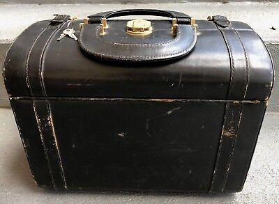 Vintage Doctor Bag With Lock And Key
