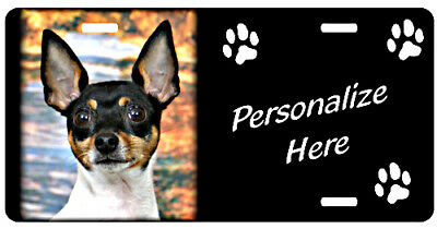 Toy Fox Terrier  #1     Personalized Auto License Plate