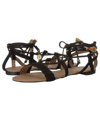 b58346266c5 QUPID SZ 5.5 Black Strappy Tassel Sandals New NIB Alanis-72ax Shoes ...
