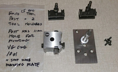 EMCO COMPACT 5 CNC Lathe Quick Change Tool Post, 2 Holders & Plate 1001
