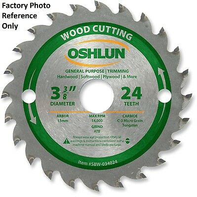 Oshlun SBW-034024 3-3/8-Inch 24 Tooth ATB General Purpose and Trimming Saw Blade