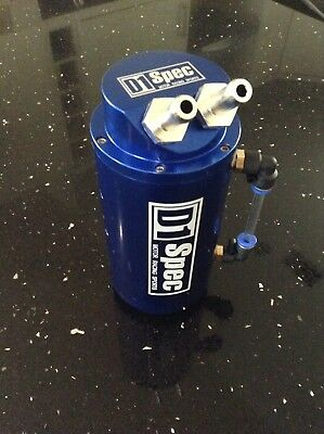 D1 SPEC Oil Catch Can! BLUE! Honda, Nissan, BMW, Audi, Volkswagen UK SELLER!!