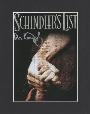 Ben Kingsley Schindlers List Original Hand Signed 10X8 Mounted Autograph Photo