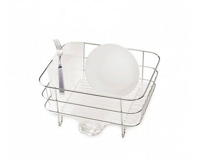 simplehuman compact wire frame dish rack, stainless steel
