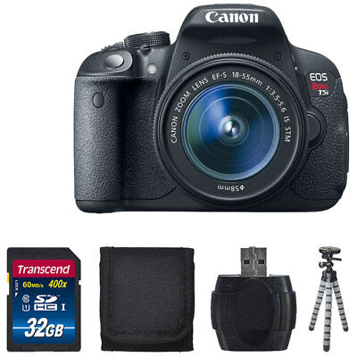 Canon EOS Rebel T5i 18.0 MP CMOS DSLR Camera with 18-55mm EF-S IS STM Lens + Kit