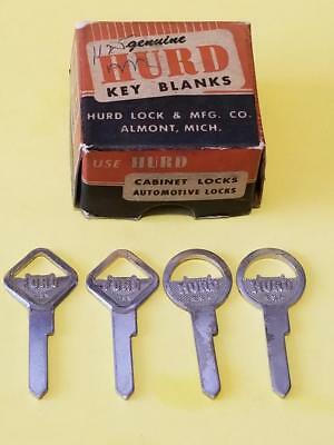 RARE Antique Vintage Original OEM Ford Key Blanks & Box made by Hurd - 1932-1939