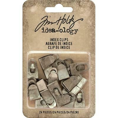 Tim Holtz Idea-Ology - Metal Fasteners - Index Clips - 24 Pieces