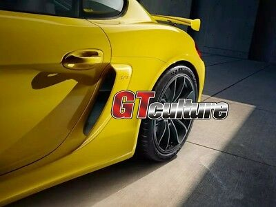 FOR  981 GT4 Style  Boxster Cayman GTS SIDE AIR INTAKES VENTS SCOOPS GRILLES