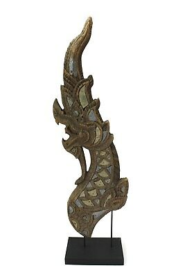 Antique Thai Naga Temple Finial, Thailand Original 102cm high. Buddhist - Buddha