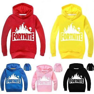 Kids Boys Girls Game Long Sleeve Hoodies Casual Sweatshirts Jumper T-Shirt Tops