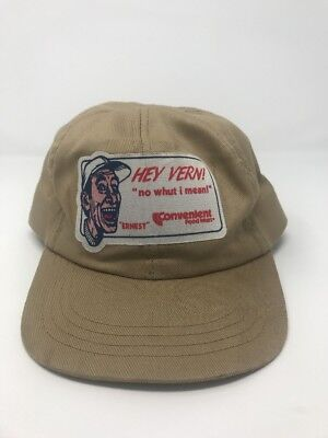 Rare Vintage Ernest P Worrell Hey Vern Convenient Food Mart Promo Fitted Hat L
