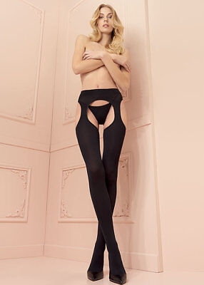 Trasparenze Cortina Opaque 100 Denier Pantyhose Strip Panty Suspender Tights