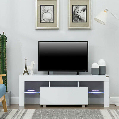 MODERN HIGH GLOSS LED Lights TV Cabinet Unit Stand with Draw