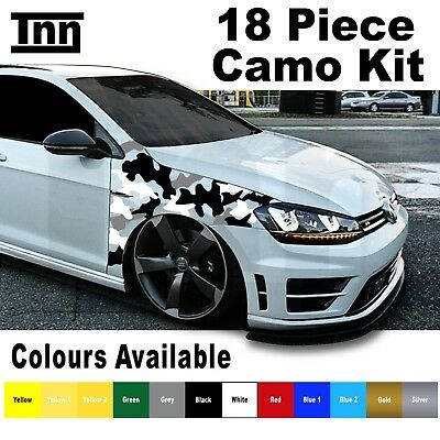 VW Polo Golf GTI GTD R Line Scirocco Sticker Decal Vinyl Camo Kit Camouflage GT