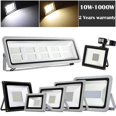 LED Security Floodlight PIR Sensor 1000W 800W 500W 300W 200W 100W 50W 20W 10W UK