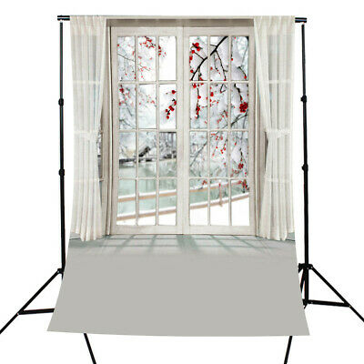 [NEW] 5x7FT Photography Backdrop Blossom Flower Window Curtain Studio Photo Back