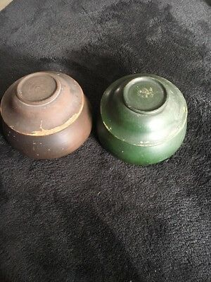 Treen Turned Pots With Lids
