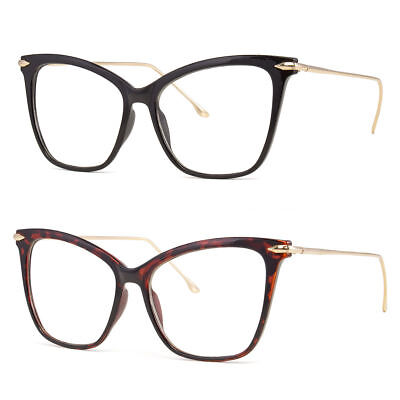 New Clear Lens Cat Eye Glasses Retro 60s Vintage Style Women's Fashion z