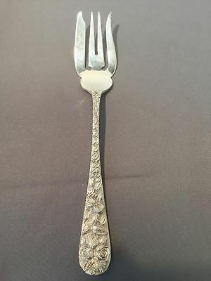 Salad Fork (6 1/4 in) in Baltimore Rose by Schofield, 1905 Sterling Silver