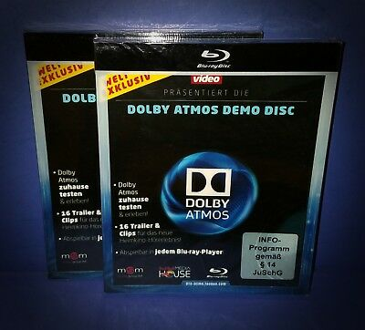 DOLBY ATMOS DEMO Disc Blu Ray 1080P * Over 30 Demos!!! * Video And