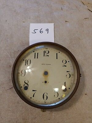 Seth Thomas Tambour Mantle Clock Dial And Bezel With Glass