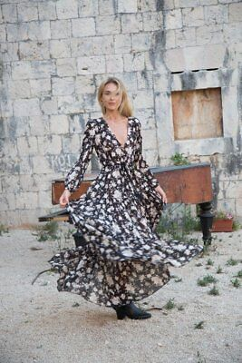 Rare Spell And The Gypsy  Dancer Gown M Nwt Caviar