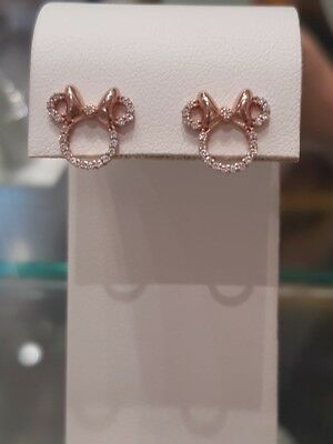 Disney Parks Minnie Headband ICON Rose Gold Earrings by Rebecca Hook