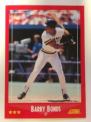 1988 Score Barry Bonds 265 Pirates Nm Mint 125