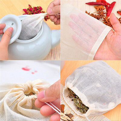 10 Pcs 8x10cm Large Cotton Muslin Drawstring Reusables Bags for Soaps HerbsTeaJO