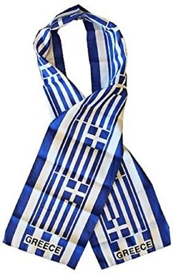 "Greece Country Lightweight Flag Printed Knitted Style Scarf 8""x60"""