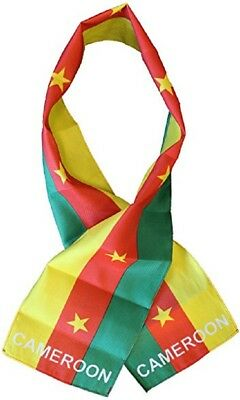 "Cameroon Country Lightweight Flag Printed Knitted Style Scarf 8""x60"""