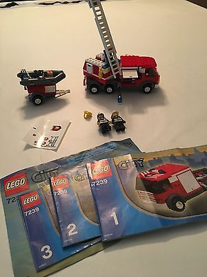 Lego City Fire Truck 7239 100 Complete With Instructions 2004