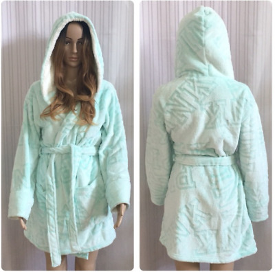 537409d113 VICTORIAS SECRET PINK Bling Sequin Sherpa Hooded Dog Robe One Size ...