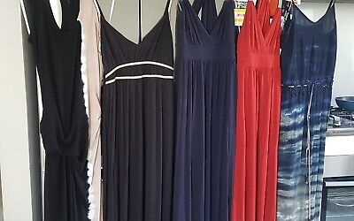 Maxi Dresses x 5 Bulk Lot M/10/12 John Zack/Young Fabulous&Broke/ Hot Options/MJ
