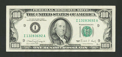 1990 $100 Bill Hundred Frn I Minneapolis Federal Reserve Note Strong Very Fine