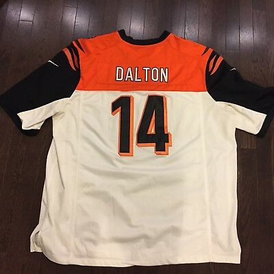 Top NIKE CINCINNATI BENGALS Mens XL Andy Dalton On Field Stitched Jersey  hot sale