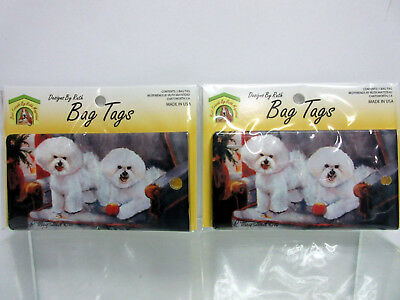 New Bichon Frise Dog Bag Tag 2 Luggage / Pet Carrier Tags By Ruth Maystead