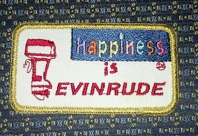 "RARE happiness is EVINRUDE Sew on Patch EMBROIDERY 3.75""X2"""