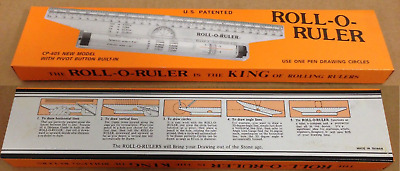 Roll-O-Ruler Rolling Drafting Ruler 12in Wei's CP-405