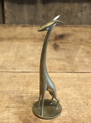 Beautiful Early Original HAGENAUER Art Deco Brass Giraffe Made In Austria