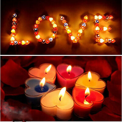 10Pcs/Set Smokeless Heart Scented Candle Valentine Candle Romantic Decoration