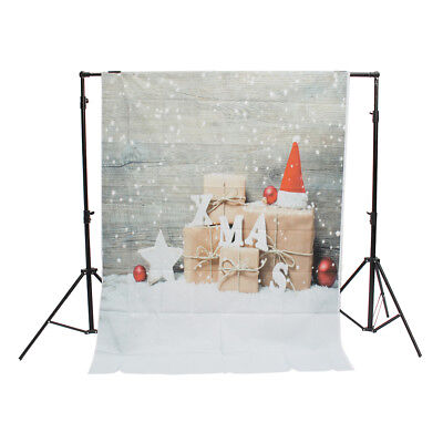 [NEW] 3x5ft 5x7ft Snow Wooden Wall Christmas Gift Photography Backdrop Studio Pr