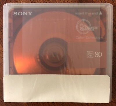 NEW Sony MiniDisc 80 Blank Recordable MD Color Collection Topaz Orange SEALED
