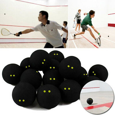Pro Black Dot Rubber Squash Ball Training Competition Accessories Exotic Braw