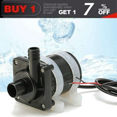 20W Ultra Quiet Mini DC 12V Lift 600L/H Brushless Motor Submersible Water Pump