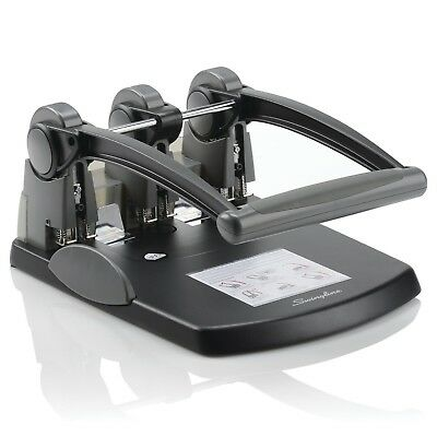 Swingline® A7074194 Extra High Capacity 3-Hole Punch, Fixed Centers, 300 Sheets