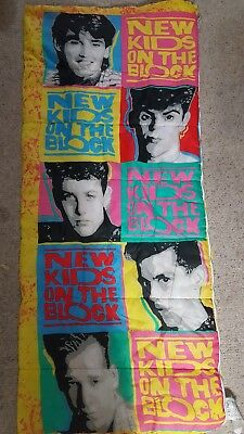 Vintage 1990 New Kids On The Block Sleeping Bag NKOTB Wahlberg McIntyre EUC cadcd2d4c7d3e