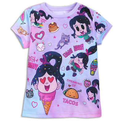 Disney Store Wreck-It Ralph Breaks Internet Vanellope Tee T-Shirt Colorful Cute