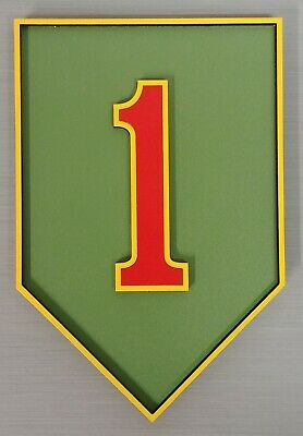 "US Army 1st Infantry Division ""The Big Red One"" 3D Military Plaque Crest Sign"