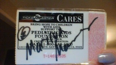 Autographed Marilyn Manson and the Spooky Kids Ticket Stub circa 1993/VINTAGE